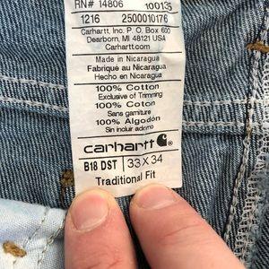 Carhartt Jeans - Carhartt Men's Jeans Traditional Fit Size W33 XL34